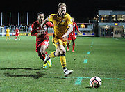 Sean Rigg of Newport County during the The FA Cup match between Newport County and Alfreton Town at Rodney Parade, Newport, Wales on 15 November 2016. Photo by Andrew Lewis.