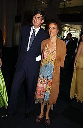 ROBIN BIRLEY and the MARCHIONESS OF WORCESTER, she was actress Tracey Ward at the Fortune Forum Dinner held at Old Billingsgate, 1 Old Billingsgate Walk, 16 Lower Thames Street, London EC3R 6DX<br />