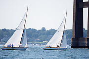 Mischief and Osprey, S Class, sailing in the Museum of Yachting Classic Yacht Regatta, day one.