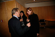 EDWARD FOX, VALERIE GROVE AND THE COUNTESS OF  SNOWDON. After-drinks JOSEPHINE HART Poetry Hour. British Library. Euston Rd. London. 22 March 2006. ONE TIME USE ONLY - DO NOT ARCHIVE  © Copyright Photograph by Dafydd Jones 66 Stockwell Park Rd. London SW9 0DA Tel 020 7733 0108 www.dafjones.com
