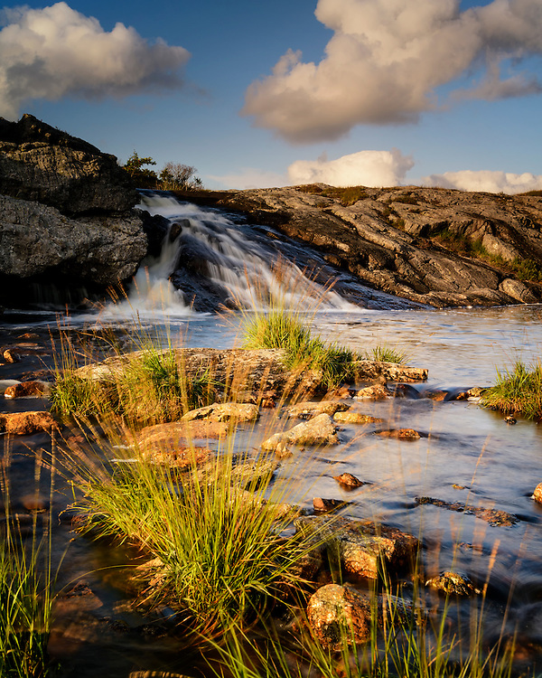 A small waterfall at Holmaholen, Rogaland, Norway.