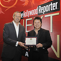 HONG KONG - MARCH 24:  Hollywood Reporter's Senior VP, Publishing Director Eric Mika (L) and David Lee during The Hollywood Reporter Next Gen Asia Launch Cocktail Reception event at the W Hotel Kowloon on March 24, 2009 in Hong Kong. The initiative has recognised over 500 individuals under 35 over the last 15 years, and is run in conjunction with the Hong Kong International Film Festival.  Photo by Victor Fraile / studioEAST