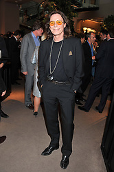 GEORGE BLODWELL at the unveiling of 'The Diamond Queen' a collaboration between Asprey and artist Chris Levine in aid of The Woodland Trust, held at Asprey, 167 New Bond Street, London on 28th May 2012.
