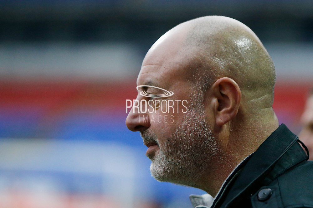 Keith Hill Manager of Bolton Wanderers  during the EFL Sky Bet League 1 match between Bolton Wanderers and AFC Wimbledon at the University of  Bolton Stadium, Bolton, England on 7 December 2019.