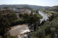 Aspect of the village of Odemira, Alentejo. The village's river, Mira.