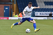 Bury Defender, Craig Jones on the ball during the Sky Bet League 1 match between Bury and Millwall at the JD Stadium, Bury, England on 23 April 2016. Photo by Mark Pollitt.