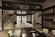 interior of old house Honmura Naoshima Island Japan