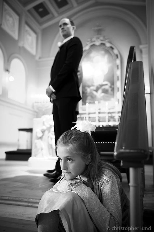 Ellert Baldursson og Unnur Helga Gunnarsdóttir gifta sig. Frá athöfninni í Dómkirkjunni.