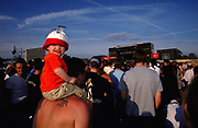 Baby on mans shoulders, Reading 1998