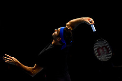 November 15, 2018 - London, England, United Kingdom - Roger Federer of Switzerland is seen in action in his training session during Day Five of the Nitto ATP Finals at The O2 Arena on November 15, 2018 in London, England. (Credit Image: © Alberto Pezzali/NurPhoto via ZUMA Press)
