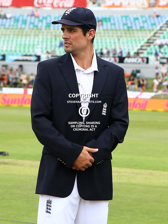 Durban South Africa - December 26, Alastair Cook (capt) of England during the match between South Africa  and England day 1 of the 1st test , 26 December 2015. (Photo by Steve Haag) images for social media must have consent from Steve Haag