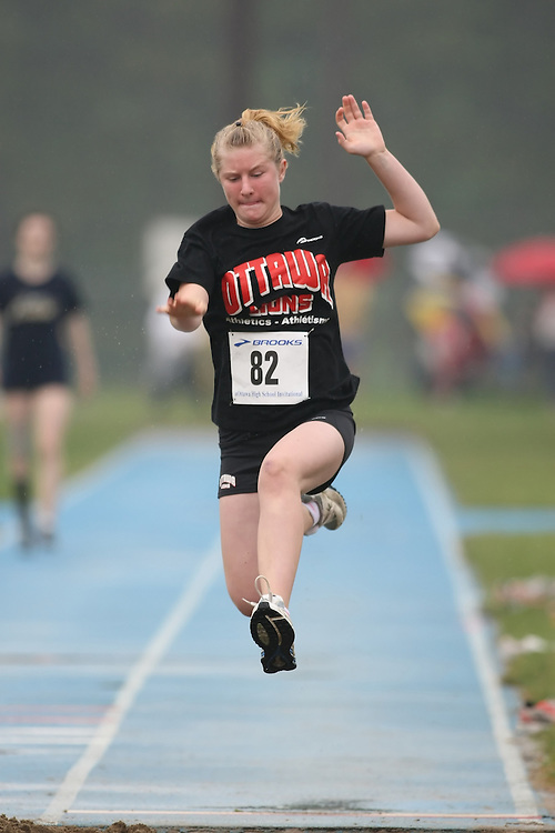 "(Ottawa, Ontario---20080628) ""Beehler, Danielle"" competing in the long jump at the 2008 District G qualifier for the Royal Canadian Legion Ontario Track and Field Championships. This image is copyright Sean W. Burges, and the photographer can be contacted at seanburges@yahoo.com."
