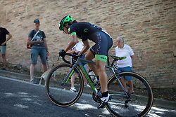 Rossella Ratto (ITA) of Cylance Pro Cycling rides near the top of the final climb of Stage 5 of the Giro Rosa - a 12.7 km individual time trial, starting and finishing in Sant'Elpido A Mare on July 4, 2017, in Fermo, Italy. (Photo by Balint Hamvas/Velofocus.com)