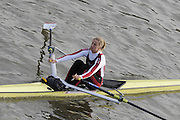 London, Great Britain, 2008 Scullers Head of the River Race,  Sarah WINCKLESS, racing over the Championship Course, Mortlake to Putney, on the River Thames.   Saturday, 06/12/2008. [Mandatory Credit: ? Peter Spurrier/Intersport Images]. Rowing Course: River Thames, Championship course, Putney to Mortlake 4.25 Miles,