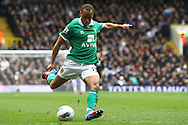 Picture by Paul Chesterton/Focus Images Ltd.  07904 640267.09/04/12.Elliott Bennett of Norwich scores what turns out to be the winning goal and celebrates during the Barclays Premier League match at White Hart Lane Stadium, London.