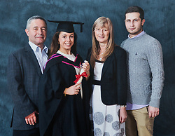 Alzheimer sufferer Yvonne Salomon and her husband Trevor in their family home in Pinner. PICTURED: A family photograph taken at daughter Talia's graduation from Central St Martin's College in 2012. Pinner, London, March 12 2018.