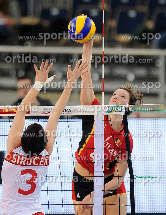 04.01.2014, Atlas Arena, Lotz, POL, FIVB, Damen WM Qualifikation, Belgien vs Schweiz, im Bild NINA COOLMAN // NINA COOLMAN during the ladies FIVB World Championship qualifying match between Belgium and Switzerland at the Atlas Arena in Lotz, Poland on 2014/01/05. EXPA Pictures &copy; 2014, PhotoCredit: EXPA/ Newspix/ Lukasz Laskowski<br /> <br /> *****ATTENTION - for AUT, SLO, CRO, SRB, BIH, MAZ, TUR, SUI, SWE only*****