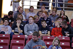 05 November 2017:  The Ridgeview High School basketball team watches alum William Tinsley play during a Lewis College Flyers and Illinois State Redbirds in Redbird Arena, Normal IL
