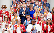 Liesette Bruinsma Marlou van Rhijn  21-9-2016 THE HAGUE - King Willem-Alexander and Her Royal Highness Princess Margriet of the Netherlands received Wednesday, September 21 at Palace Noordeinde the Dutch medal winners of the Paralympic Games in 2016 in Rio de Janeiro. Prior to the receipt by the King and Princess Margriet of the medal winners will be honored at the Grote Kerk in The Hague. Prime Minister Mark Rutte, State Secretary Martin van Rijn of Health, Welfare and Sport, the chairman of the Dutch Paralympic Committee, Wim L&uuml;deke and Chef de Mission Andr&eacute; Cats speak them. COPYRIGHT ROBIN UTRECHT<br /> 21-9-2016 DEN HAAG - Koning Willem-Alexander en Hare Koninklijke Hoogheid Prinses Margriet der Nederlanden ontvangen woensdag 21 september op Paleis Noordeinde de Nederlandse medaillewinnaars van de Paralympische Zomerspelen 2016 in Rio de Janeiro. Voorafgaand aan de ontvangst door de Koning en Prinses Margriet worden de medaillewinnaars gehuldigd in de Grote Kerk in Den Haag. Minister-president Mark Rutte, staatssecretaris Martin van Rijn van Volksgezondheid, Welzijn en Sport, de voorzitter van het Nederlands Paralympisch Comit&eacute;, Wim Ludeke en Chef de Mission Andr&eacute; Cats spreken hen toe. COPYRIGHT ROBIN UTRECHT
