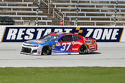 November 2, 2018 - Fort Worth, TX, U.S. - FORT WORTH, TX - NOVEMBER 02: Monster Energy NASCAR Cup Series driver Chris Buescher (37) speeds down the frontstretch during practice for the AAA Texas 500 on November 02, 2018 at the Texas Motor Speedway in Fort Worth, Texas. (Photo by Matthew Pearce/Icon Sportswire) (Credit Image: © Matthew Pearce/Icon SMI via ZUMA Press)