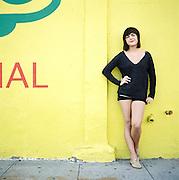 BROOKLYN, NEW YORK - 2011: Norwegian, singer songwriter Elise Vatsvaag at Coney Island in Brooklyn, New York.