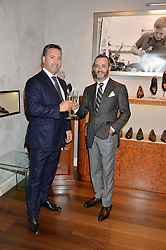 Left to right, DEAN GIRLING and TONY GAZIANO at a party to celebrate the 10th anniversary of Gaziano & Girling's at 39 Savile Row, London on 14th September 2016.