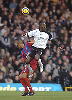 Andy Cole (Fulham) Fitz Hall (Crystal Palace) Fulham v Crystal Palace, FA Barclaycard Premiership, 1/01/2005. Credit: Back Page Images / Matthew Impey