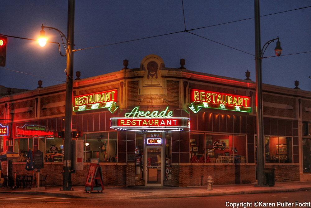 The historic Arcade Restaurant Memphis © Karen Pulfer Focht-ALL RIGHTS RESERVED-NOT FOR USE WITHOUT WRITTEN PERMISSION