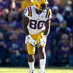 November 17, 2012; Baton Rouge, LA, USA  LSU Tigers wide receiver Jarvis Landry (80) against the Ole Miss Rebels during a game at Tiger Stadium. LSU defeated Ole Miss 41-35. Mandatory Credit: Derick E. Hingle-US PRESSWIRE
