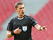 FOOTBALL: Referee Jonathan Lardot (Belgium) during the UEFA Champions League Second qualifying round, 2nd leg match between FC København and MŠK Žilina at Parken Stadium, Copenhagen, Denmark on July 19, 2017. Photo: Claus Birch