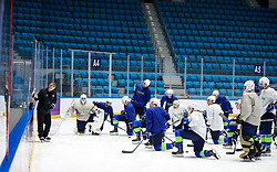 Ivo Jan (head coach) and the players at ice hockey practice one day before at IIHF World Championship DIV. I Group A Kazakhstan 2019, on April 28, 2019 in Barys Arena, Nur-Sultan, Kazakhstan. Photo by Matic Klansek Velej / Sportida