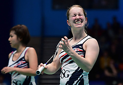 Jess Hopton of Bristol Jets screams in frustration  - Photo mandatory by-line: Robbie Stephenson/JMP - 07/11/2016 - BADMINTON - University of Derby - Derby, England - Team Derby v Bristol Jets - AJ Bell National Badminton League