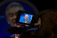 Filming Steve Sinnott, NUT General Secretary, speaking at the NUT Conference