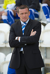 COLCHESTER, ENGLAND - Saturday, April 24, 2010: Colchester United's Manager Aidy Boothroyd before the Football League One match at the Western Community Stadium. (Photo by Gareth Davies/Propaganda)