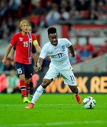 England's Raheem Sterling (Liverpool) - Photo mandatory by-line: Joe Meredith/JMP - Mobile: 07966 386802 - 3/09/14 - SPORT - FOOTBALL - London - Wembley Stadium - England v Norway - International Friendly