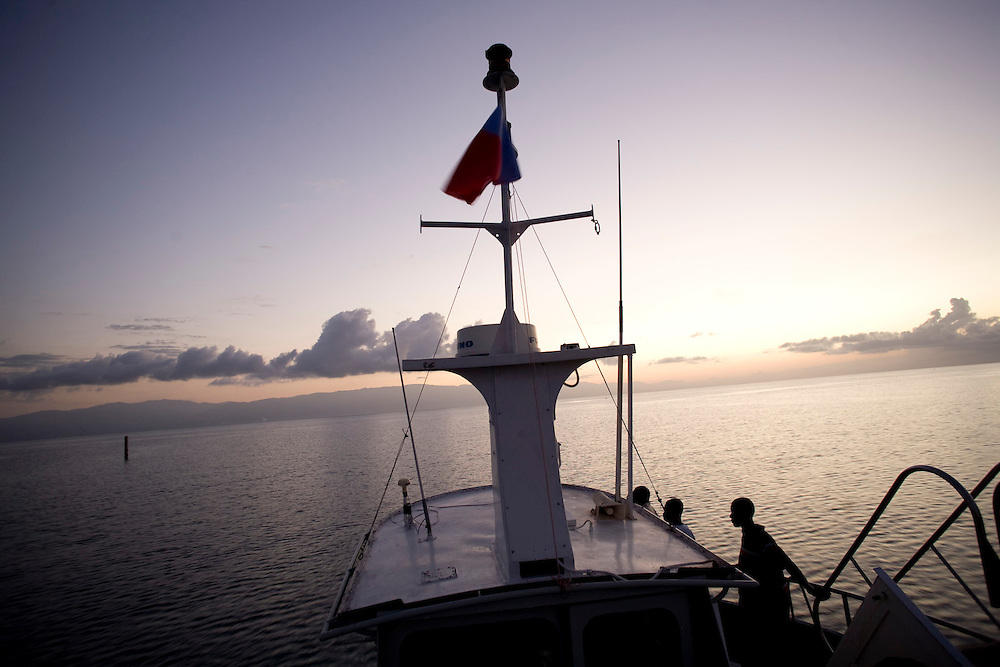 Ferry ride from La Gonave to Carries, Haiti. Photo by Ben Depp 01.31.2009