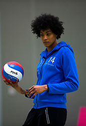 19-01-2019 NED: Pharmafilter US - Dros-Alterno, Amsterdam<br /> Round 15 of Eredivisie volleyball. Alterno win 3-0 (17-25 16-25 20-25) of US / Taraymie Bleijert #14 of US
