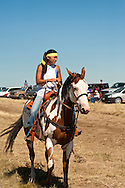 Fort Belknap Indian Reservation, Montana, Milk River Memorial Horse Races, rider, Belinda Horn, Assiniboine..