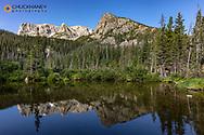 Fern Lake in Rocky Mountain National Park, Colorado, USA