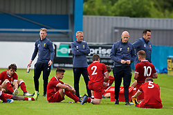 NUNEATON, ENGLAND - Sunday, July 30, 2017: Liverpool's players show a look of dejection following a 1-3 defeat in a pre-season friendly between Liverpool and PSV Eindhoven at the Liberty Way Stadium. (Pic by Paul Greenwood/Propaganda)