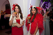NEGI RODA; JORDANA YECHIEL, The Surrealist Ball in aid of the NSPCC. Hosted by Lucy Yeomans and Harry Blain. Banqueting House. Whitehall. 17 March 2011. -DO NOT ARCHIVE-© Copyright Photograph by Dafydd Jones. 248 Clapham Rd. London SW9 0PZ. Tel 0207 820 0771. www.dafjones.com.