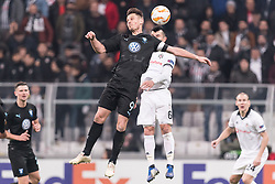 (L-R) Markus Rosenberg of Malmo FF, Gary Alexis Medel Soto of Besiktas JK during the UEFA Europa League group I match between between Besiktas AS and Malmo FF at the Besiktas Park on December 13, 2018 in Istanbul, Turkey