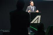Cramer Ball, Managing director Alitalia, speaks at Alitalia Day, in Milan, May 19, 2016. &copy; Carlo Cerchioli<br /> Cramer Ball, Amministratore delegato Alitalia, parla all'evento Alitalia Day, Milano 19 Maggio 2016.