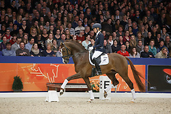 Brouwer Kirsten (NED) - Eye Catcher<br /> KWPN Stallion Selection - 's Hertogenbosch 2014<br /> © Dirk Caremans