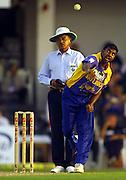 Sri Lankan bowling ace Muttiah Muralitharan.