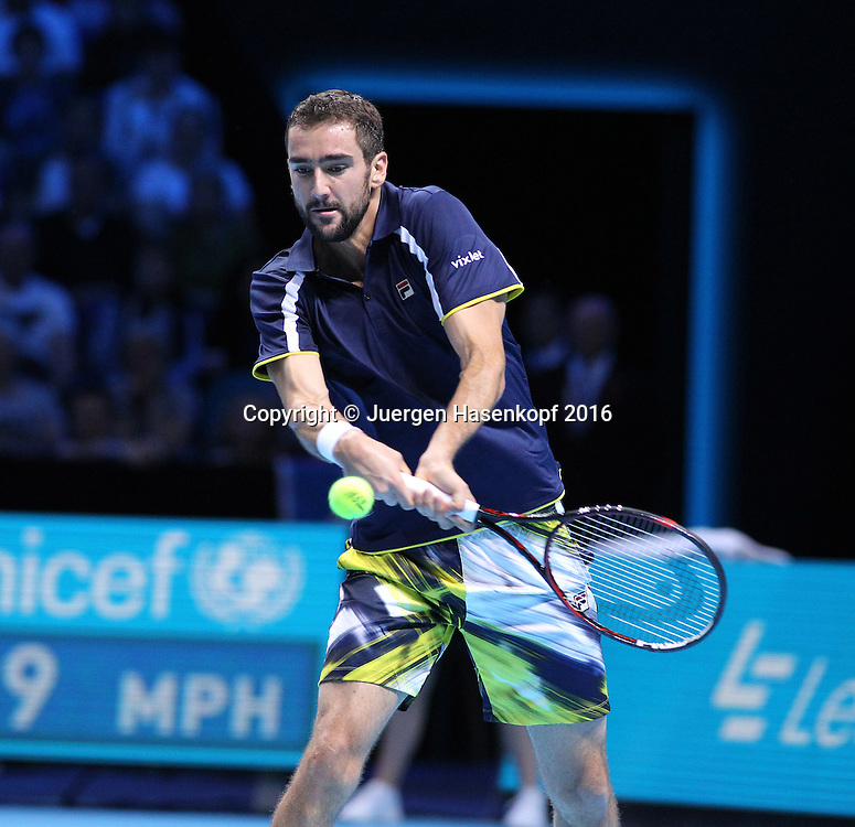 MARIN CILIC (CRO), ATP World Tour Finals, O2 Arena, London, England.<br /> <br /> Tennis - ATP World Tour Finals 2016 - ATP -  O2 Arena - London -  - Great Britain  - 14 November 2016. <br /> &copy; Juergen Hasenkopf/Grieves