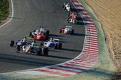James Pull in the #15 JTR leads Lando Norris in the #31 Carlin | MSA Formula Championship | Race 3 - Photo mandatory by-line: Rogan Thomson/JMP - 07966 386802 - 04/04/2015 - SPORT - MOTORSPORT - Fawkham, England - Brands Hatch Circuit - British Touring Car Championship Meeting Day 2.