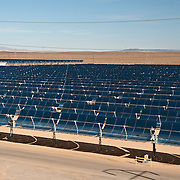 Solar Energy Generating Systems (SEGS) consists of nine solar power plants in California's Mojave Desert. The installation uses parabolic trough solar thermal technology along with natural gas to produce electricity. It is the largest solar energy generating facility in the world.