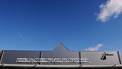 27-10-2012 VOLLEYBAL: VV ALTERNO - SETUP 65: APELDOORN<br /> Topsivisie vrouwen / Alternohal met de banner Wij zoeken nog een hoofdsponsor, item volleybal creative<br /> ©2012-FotoHoogendoorn.nl
