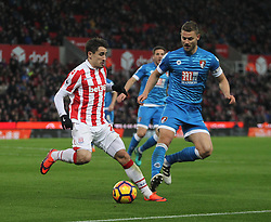 Bojan Krkic of Stoke City (L) and Simon Francis of Bournemouth in action - Mandatory by-line: Jack Phillips/JMP - 19/11/2016 - FOOTBALL - Bet365 Stadium - Stoke-on-Trent, England - Stoke City v Bournemouth - Premier League